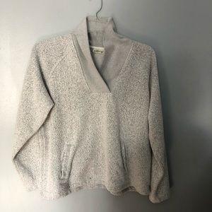 Orvis light gray v neck pullover L